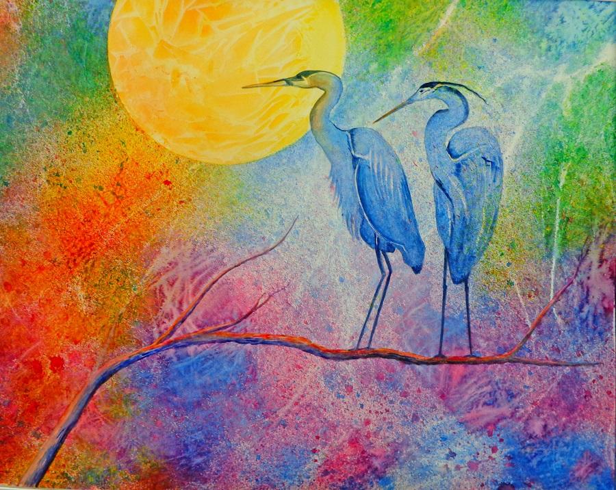 "Blue Heron  22""x30"""