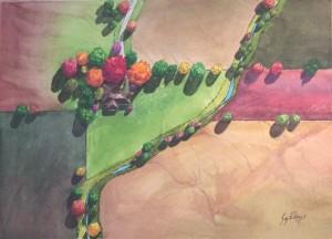 East of Town  Sy Ellens, MI  Holbien Art Award